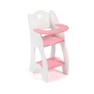 BAYER CHIC 2000 Puppen-Hochstuhl Stars weiß/pink