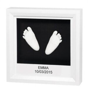 Baby Art My Little Steps 3D-Bilderrahmen für Hand- und Fußabdruck