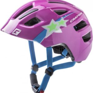 Cratoni Kinderhelm Maxster purple star glossy S-M