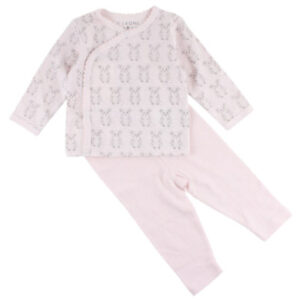 FIXONI Baby Schlafoverall Set soft rose Maus