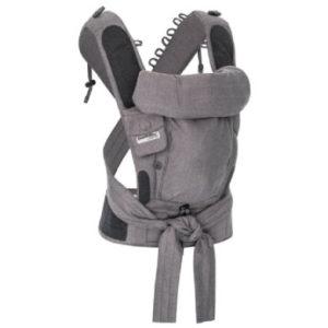 Hoppediz Babytrage Bondolino Plus Jacquard One Size London grau-schwarz
