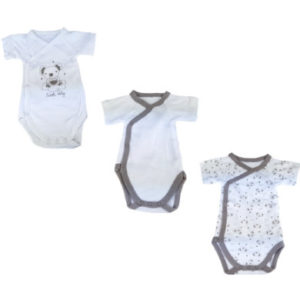 Hütte & Co Wickelbodies 3er Pack Sweet Baby weiß
