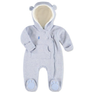 LITTLE Melange Sweat Overall blau melange