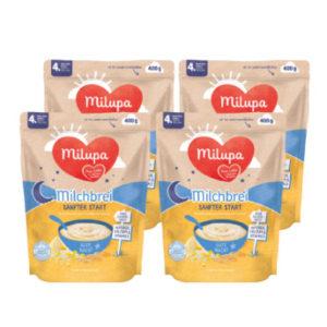 Milupa Milchbrei Sanfter Start Gute Nacht 4 x 400 g nach dem 4. Monat