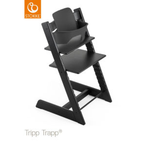 STOKKE® Tripp Trapp® Hochstuhl inkl. Baby Set Oak schwarz