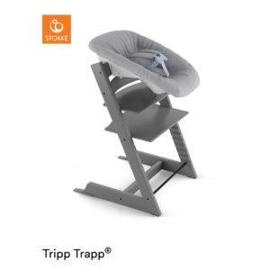 STOKKE® Tripp Trapp® Hochstuhl inkl. Newborn Set™ Buche Storm Grey