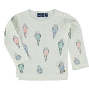 TOM TAILOR Pullover mit Vogel-Print