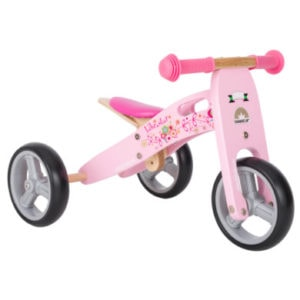 bikestar 2 in 1 Mini Kinderlaufrad 7 Holz Flamingo Pink
