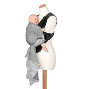 manduca Babytrage Bellybutton Duo WildCrosses grey - grau