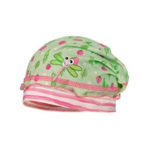 maximo Girls Beanie Libelle hellgrün-pink