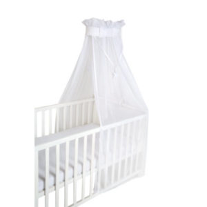 roba Babybett-Himmel safe asleep Himmel uni, weiß, mesh