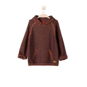 s.OLIVER Boys Mini Pullover cognac tweed